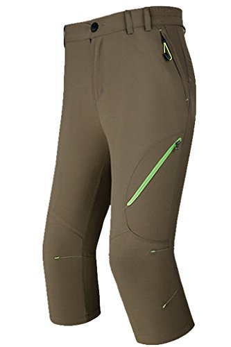 Micosuza Damen Wanderhose Zip Outdoor Hosen 3/4 lang Quick-Dry Wasserdicht Freizeithose