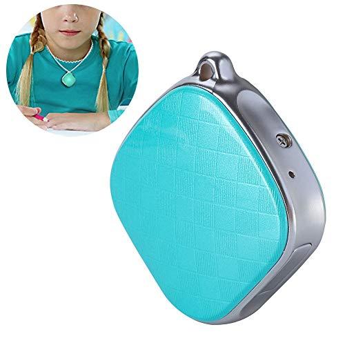 Rastreadores GPS, A9 Locator para Niños, Padres, Mascotas, Posicionamiento WIFI Personal Anti-perdida SOS Colgante Rastreador GSM (Azul)
