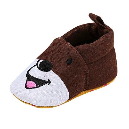 Chaussures Bébé Binggong Nouveau-né bébé bébé Filles garçons Cartton intérieure Solide Souple Unique Chaussures Occasionnelles