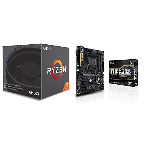 Pack de procesador AMD Ryzen 7 2700  y placa base ASUS TUF X470-Plus Gaming