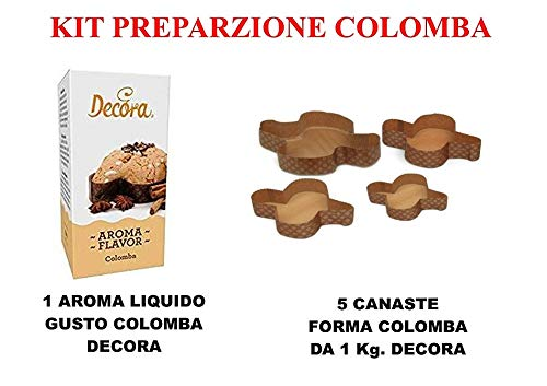 CDC- Kit n° 19 Preparazione Colomba (1 Spillone per Colomba+5 Canaste Colomba 1 kg.)