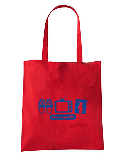 T-Shirtshock - Borsa Shopping MAT0055 Marriage Kit Maglietta Rosso