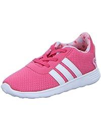 adidas NEO Lite Racer Infant Kids Girls Sports Trainer Shoe Pink Princess