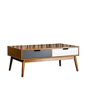 Home stories 13621 boden table basse en kit avec 2 tiroirs for Table basse scandinave amazon