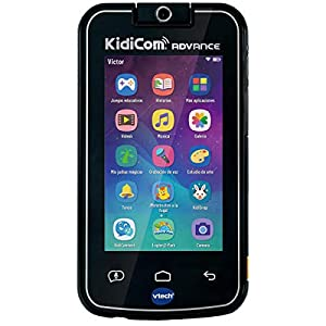 """VTech 80-186622 Kidicom Advance Smart Device for Kids, 5"""" HD Touch Screen, 180° Rotating Lens for Photos, Selfies and Videos, Parental Control, Gaming, Black"""