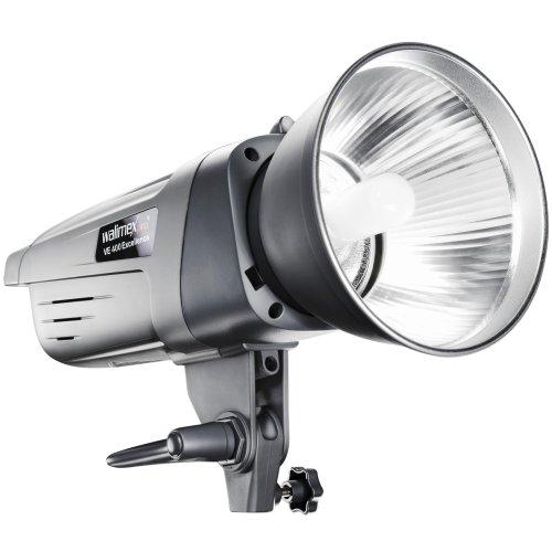 Walimex Pro VE-400 Excellence Studioblitzleuchte mit integriertem Empfänger (Leistung 400 W, 150 W Einstelllicht, stufenlos regelbar von 1/1 bis 1/32) Pro Monolights