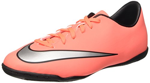 Nike Jr Mercurial Victory V Ic, Chaussures de Football Compétition Mixte Enfant Multicolore - mehrfarbig (Brght Mng/Mtllc Slvr-Hypr Trq)