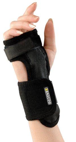 BRACOO Handgelenkschiene – Handgelenkstütze – Handorthese – Handgelenkschoner | Passt rechts und links | Ideal bei Karpaltunnelsyndrom, Zerrungen und Arthritis