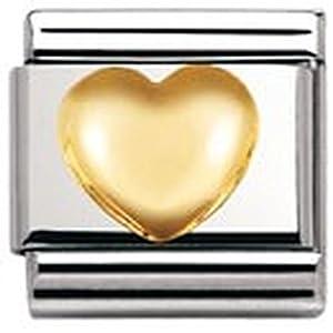 Nomination Composable Classic LOVE Edelstahl und 18K-Gold (Gewolbtes Herz) 030116