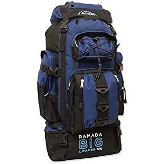 Andes Navy Blue Ramada 120L Extra Large Hiking Camping Backpack/Rucksack Luggage Bag