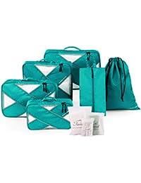 Tuscall Set di 6 Organizer per Valigia da Viaggio Cubi da Imballaggio - Perfetto di Viaggio Dei Bagagli Organizzatore