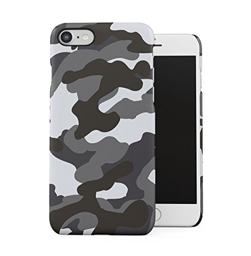 Grey Camouflage Camo Apple iPhone 7 Snap-On Hard Plastic Protective Shell Case Cover Custodia Grey Camo