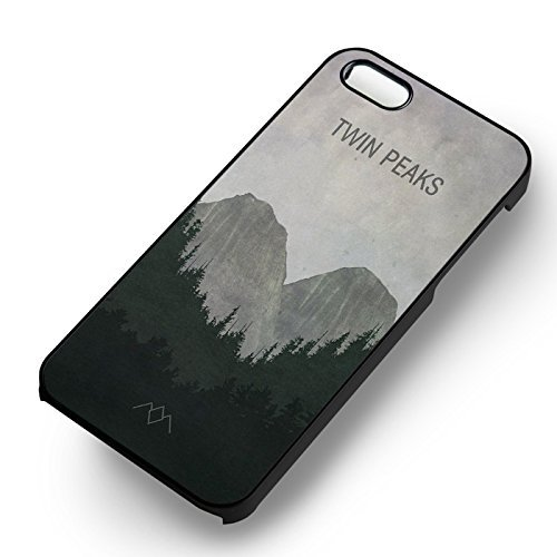 Twin Peaks for Cover Iphone 6 and Cover Iphone 6s Case (Black Hardplastic Case) C4Q4PW