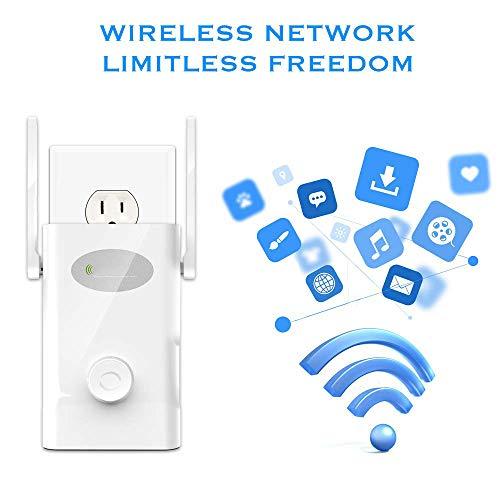 Unbekannt WiFi Extender Ac1200mbps Edup Wireless Range Repeater 2,4/5 GHz Dual-Band WiFi Booster High Power Signalverstärker 2x4dbi Antenne Smart Home (Tv-antenne Außerhalb)