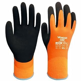 Wonder Grip Paire de gants à double épaisseur en latex résistant au froid et à l'eau Idéal pour l'hiver Orange Orange 8_uk