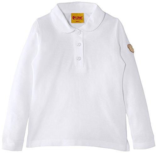 Steiff Baby - Mädchen Poloshirt 0006836 Polo Shirt 1/1 Sleeves,, Gr. 116 (Herstellergröße: 110),Weiß (Bright White)