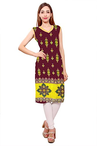 Kurti Studio Festive Maroon Unstitched Cotton Kurti Dress Material