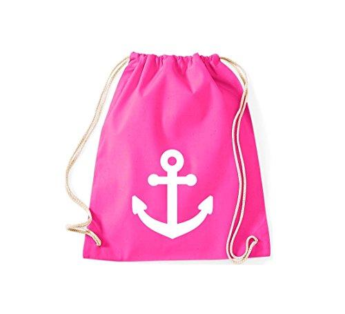 Shirtstown gymsac ancre de bateau skipper capitaine, plusieurs couleurs rose bonbon