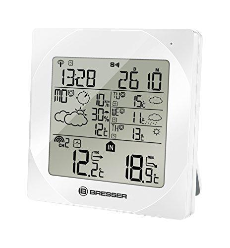 Bresser Wetterstation Funk mit Außensensor 4Cast NGW mit aktueller und 3-Tage Wettervorhersage, Windrichtung und Geschwindigkeitsanzeige und Regenwahrscheinlichkeit