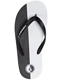 Volcom Rocker Creedlers Flip-Flop - Black/White - US 7 EU 39