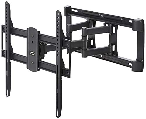 AmazonBasics - TV-Wandhalterung, Doppelarm, voll beweglich - 32-65 zoll (Der 55-zoll-led-flachbild-tv)