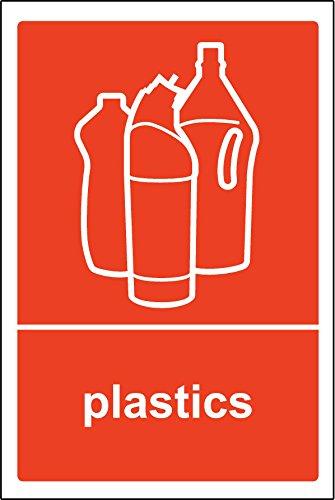 Recycling Bin Aufkleber Kunststoffe, selbstklebend Label (Recycling Kunststoff-aufkleber)