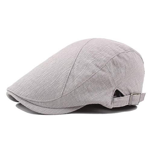 Bf Cap BigForest Men Cap Flat Gatsby Kappe TZE Newsboy 20er Jahre Ivy Irish Hat TES Jean Cabbie Scally Cap Kappe Duckbill Hat Te (Color : Grey, Size : One Size)