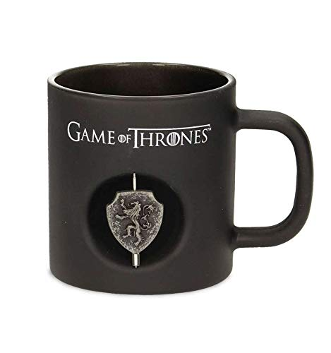 SD Toys-Mug Game of Thrones-Lannister Verre Noir Logo rotatif-8436546897545