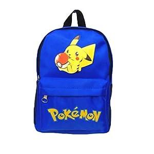 Pokemon Mochila para niños, Adolescentes niñas 3D Cartoon Pikachu Kindergarten School Bags Kids Cute Pokeball Nursery Bag Kids Pokemon Go Preschool Rucksacks Bookbags Bolsas de Hombro Merchandise