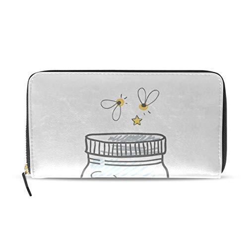 ct Flying Light Lange Passport Clutch Geldbörsen Reißverschluss Brieftasche Fall Handtasche Geld Organizer Tasche Kreditkarteninhaber Für Dame Frauen Mädchen Männer Reisegeschenk ()