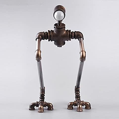 ALUK-nueva luz robot moderna lámpara de escritorio a mano industrial vendimia tubería de agua robot plomería novedad hierro-b007