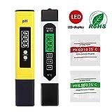 LIUMY 4-en-1 Testeur pH Mètre électronique&TDS Mètre Testeur de qualité de l'Eau TDS pH EC Température, Testeur numérique avec Écran LCD Test pour Piscine,...