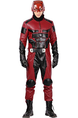 Halloween Cosplay Kostüm Hero Outfit Herren Kleidung PU Armored Suit für Erwachsene Verrücktes Kleid Merchandise Zubehör (Custom Hero Kostüme)