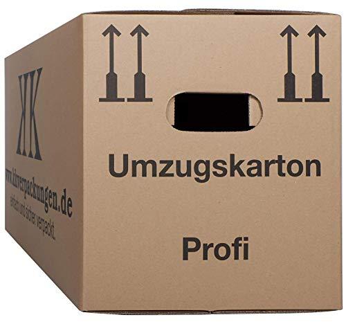 2-wellige Umzugskartons, 15 Stück | Extra Stabil & Stapelfähig mit Doppelwelle | Robuster Schmetterlingsboden | Hohe Tragkraft | Optimal für jeden Umzug