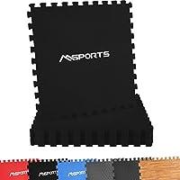 Msports Bodenschutzmatten Set Premium - 8 Schutzmatten in Verschiedenen Farben 3,175m²   Bodenschutz 60x60 cm   Stärke: 1,0 cm   Puzzlematten Gymnastikmatte