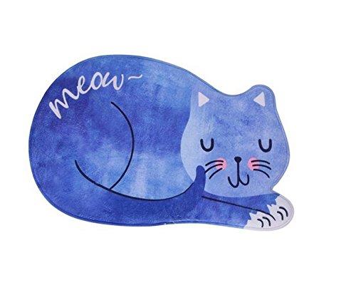 ZHJZ niedliche Katzen Form Teppiche Fußmatte -