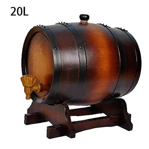 CYANNAN Barriles para Cerveza - Sin Fugas Barriles Vino Licores Cerveza Dispensador Barrica Barril De Madera Roble Licor Entero Sin Forro,2