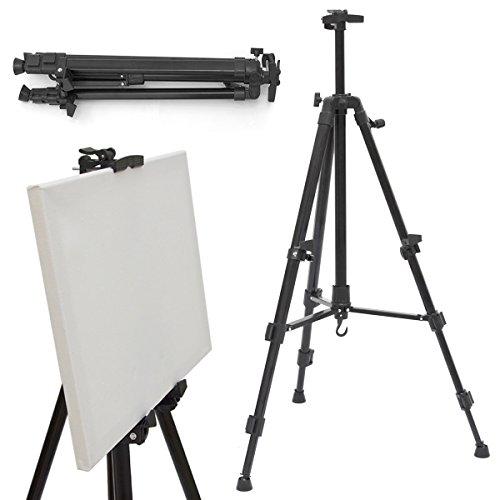 Eyepower Aluminium Feld Staffelei Leinwand Tischstaffelei 52-155cm Kinder Tafel Ständer Whiteboard Präsentationsständer