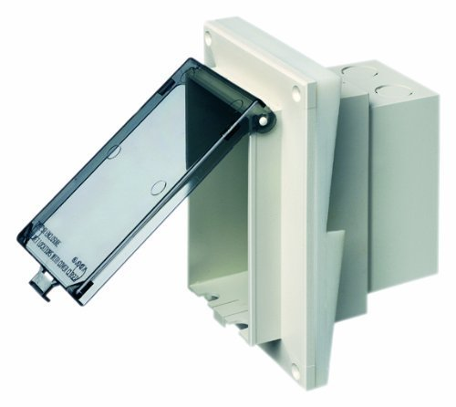 Arlington DBVR141C-1 Vertical Electrical Box with Weatherproof Cover for Rigid Siding, Clear, 1/2-Inch Lap by Arlington Industries - Na Electrical Box Cover