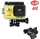 ZIHENGUO SJ4000 WiFi Action-Kamera 2,0-Zoll-LCD-Bildschirm 1080P HD Tauchen 30M Wasserdichte Mini-Camcorder-Sport-DV-Antenne-Camcorder-Fahrrecorder,Yellow