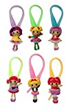 Lalaloopsy Luminescent Colorful Silicone Snap Lock Zipper Pulls 6 Pcs Set #1