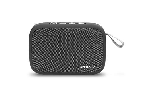 Zebronics Delight Portable Bluetooth Speaker with Fabric Finish (Gray)
