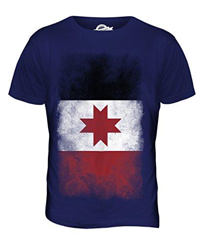 CandyMix Udmurtien Verblichen Flagge Herren T Shirt Navy Blau