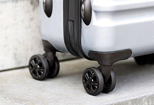 bugatti, Corium, 4 Doppel-Rollen Kabinen-Hartschalen Koffer, leichter Trolley, S - 55 cm, TSA Schloss, 34 l, 3.01 kg, silber - 5