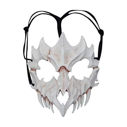 Gestalten Kostüm Märchen Aus - Huacat Halloween Maske Requisiten Cosplay Horrorzähne Harz Drachengott, Nachtgabel, Tiger, Tengu Prajna Kostüm Kollektion Wandbehang Geweih Party