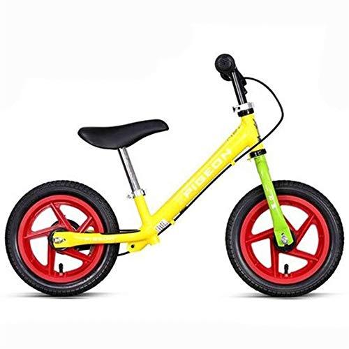 Bici Bilanciata - Leggero Equilibrio for Bambini Pneumatici for Auto Pneumatici Freno di Sicurezza for Auto 2-6 Anni per Ragazzi e Ragazze (Color : Red Yellow)