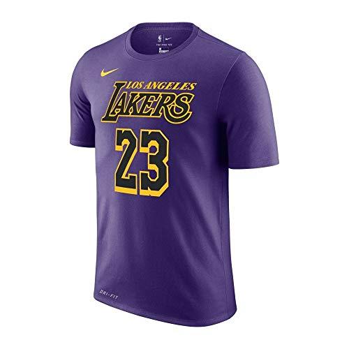 Nike NBA Los Angeles Lakers Lebron James City Edition Dri-Fit T-Shirt Large