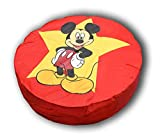 CALINUIT - Pouf Géant Rouge Disney Diamètre 110 cm Motif Mickey Pas Cher Fabrique en France