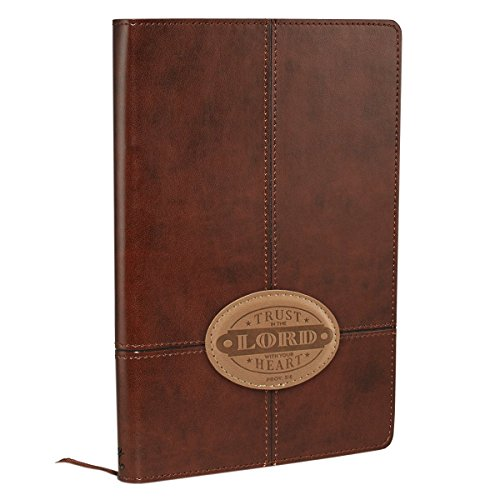 Journal - Lux-Leather - Brown Trust in the Lord Patch by Christian Art Gifts (Creator) (30-Oct-2014) Imitation Leather