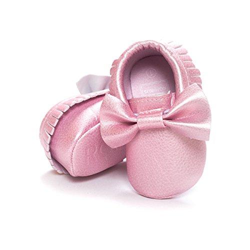 Nicetage Süß Mädchen Schuhe Laufternshuhe Krabbelschuhe für 0-18 Monate Baby Neugeborenen Schuhe Pink3